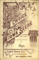 Iowa Seed Company Catalog 1890
