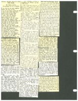 Page of clippings of Beaman news
