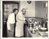 Leo Heitzman and Milton Kirch cooking in the White house kitchen
