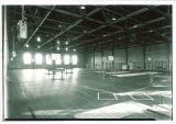 North Gym with gymnastics equipment in the Field House, the University of Iowa, 1930s