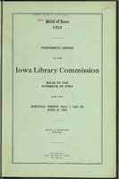 13. Thirteenth Report of the Iowa Library Commission