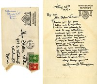 Herman B. Pumpian thank you letter to Helen Patricia (Patsy) Wilson.