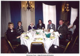Louise Noun and grandson, Jason Flora, with family at her 90th birthday fund-raiser, Des Moines, Iowa, March 1998