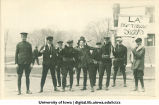 Drill squad in Mecca Day parade, The University of Iowa, 1922