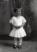 Child in white dress
