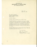 1944 USDA letter