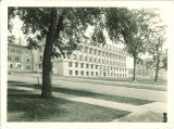 Northwest view of Jessup Hall, the University of Iowa, 1960s?