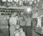 Football equipment room, 1955