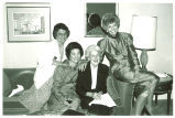 Mary Louise Smith with Ballie Kilher, Pat Bailey, and Jill Ruckelshaus at the National Women's Political Caucus 20th Anniversary Conference,Washington, D.C., July 1991
