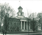 Old Capitol restoration with exterior scaffolding, The University of Iowa, 1923