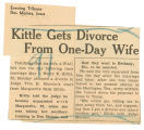 Kittle gets divorce from one-day wife