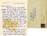 Lois Stauffer Stone letter to Helen Patricia (Patsy) Wilson exchanging bookplates.