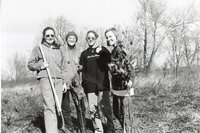 1999 - Burlington High School Students plant trees