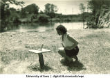 Sun dial project at Marjory Camp, The University of Iowa, 1930s